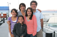 Frank Noto, chief of business affairs, with wife, Roni and daughters Sophia, Lily and Isabel.