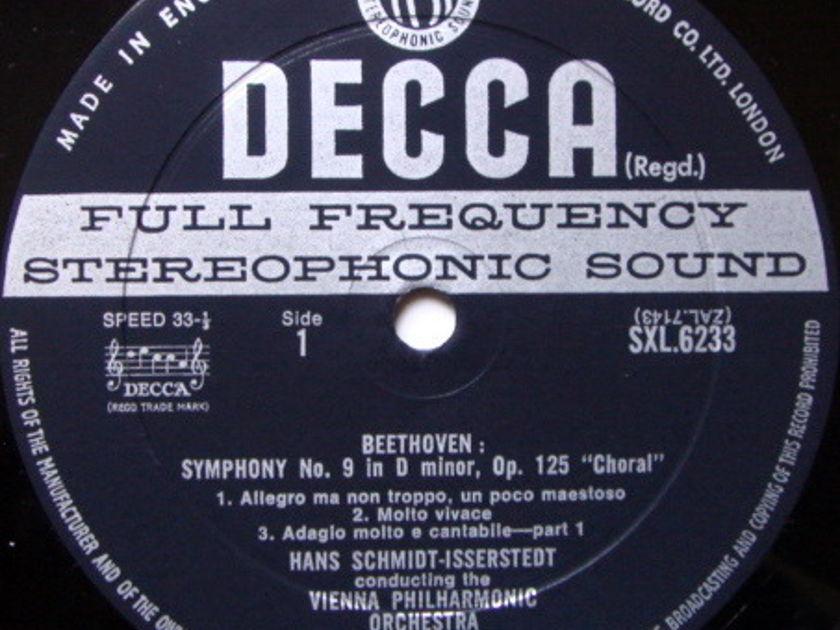 DECCA SXL-WB-ED2 / SCHMIDT-ISSERSTEDT, - Beethoven Symphony No.9 Choral, MINT!