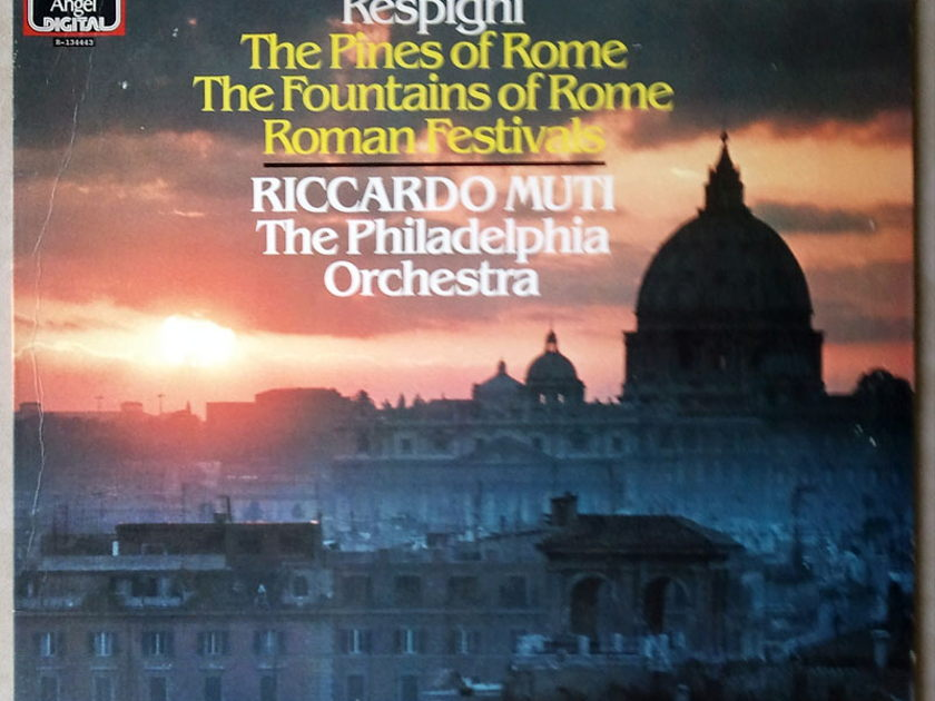 EMI Angel/Riccardo Muti/Respighi - Roman Trilogy (Fountains of Rome, Pines of Rome, Roman Festivals) / NM