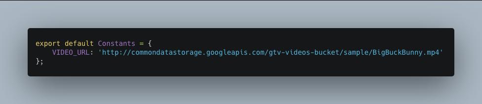 Video URL in constants
