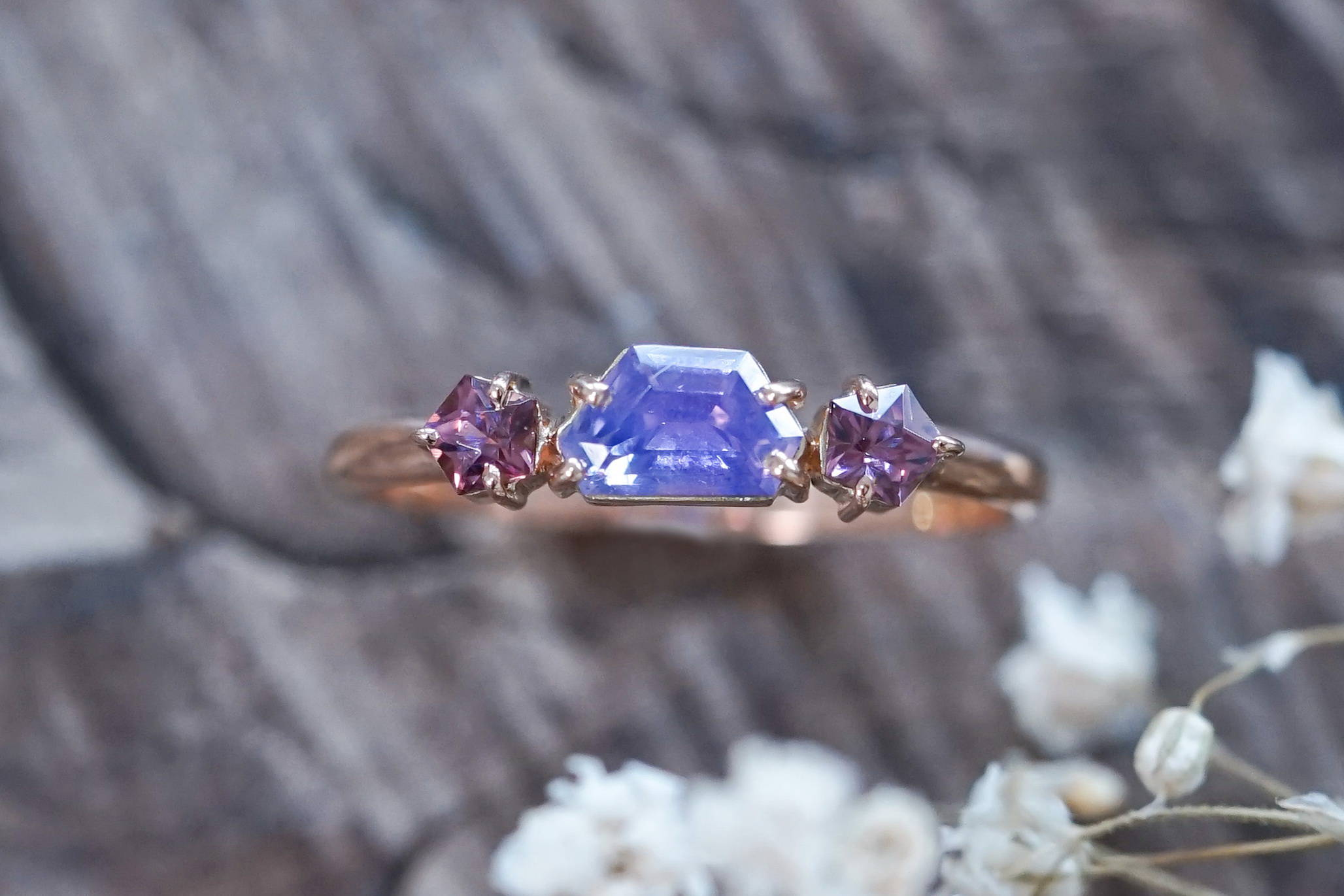 Ethical gold sapphire ring