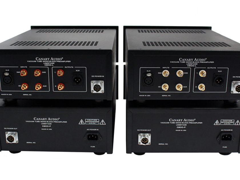 Canary Audio C900 Dual Mono 4 chassis tube preamplifiers