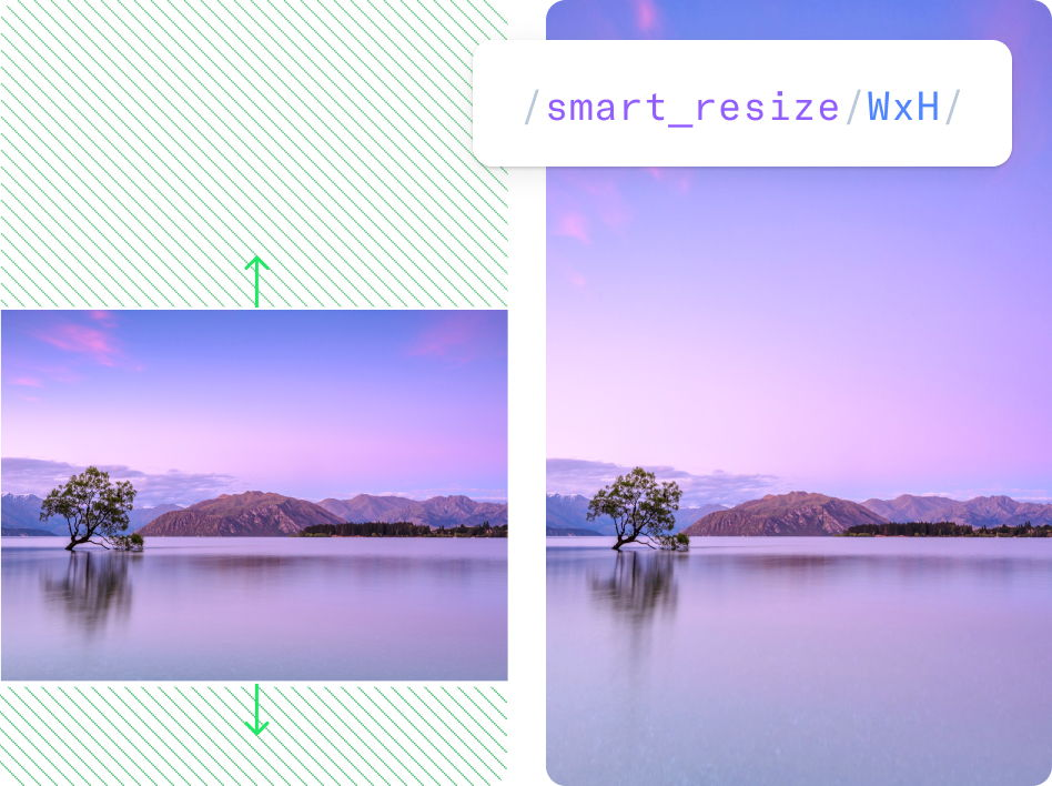 Smart background stretching example