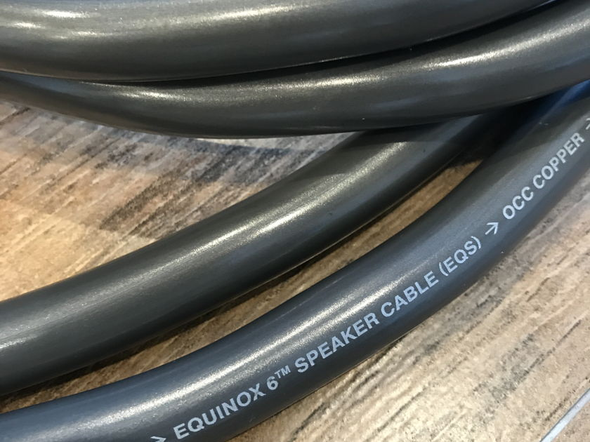 Wireworld Equinox 6 Speaker cables, 2 meters Banana to Banana