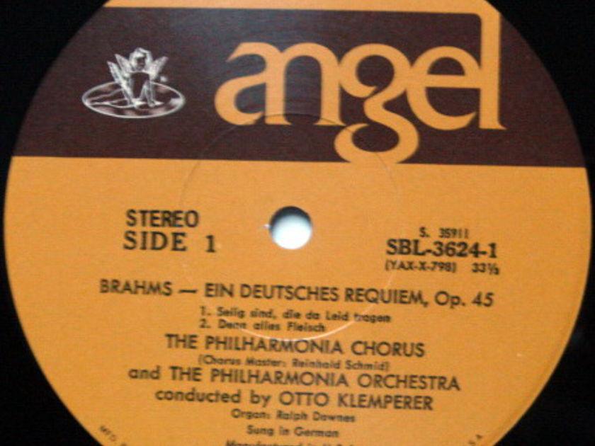 EMI Angel / KLEMPERER, - Brahms A German Requiem,  NM, 2LP Box Set!
