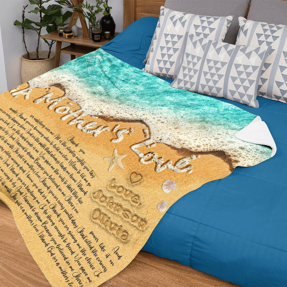 It's said that a father's goodness is higher than the mountain, a mother's goodness deeper than the sea, so why not choose a blanket printed with beautiful sea waves and mom's favorite song? This unique blanket is sure to be one of the best Mother's Day gifts to keep Mom cozy and help her relax after everything she does.