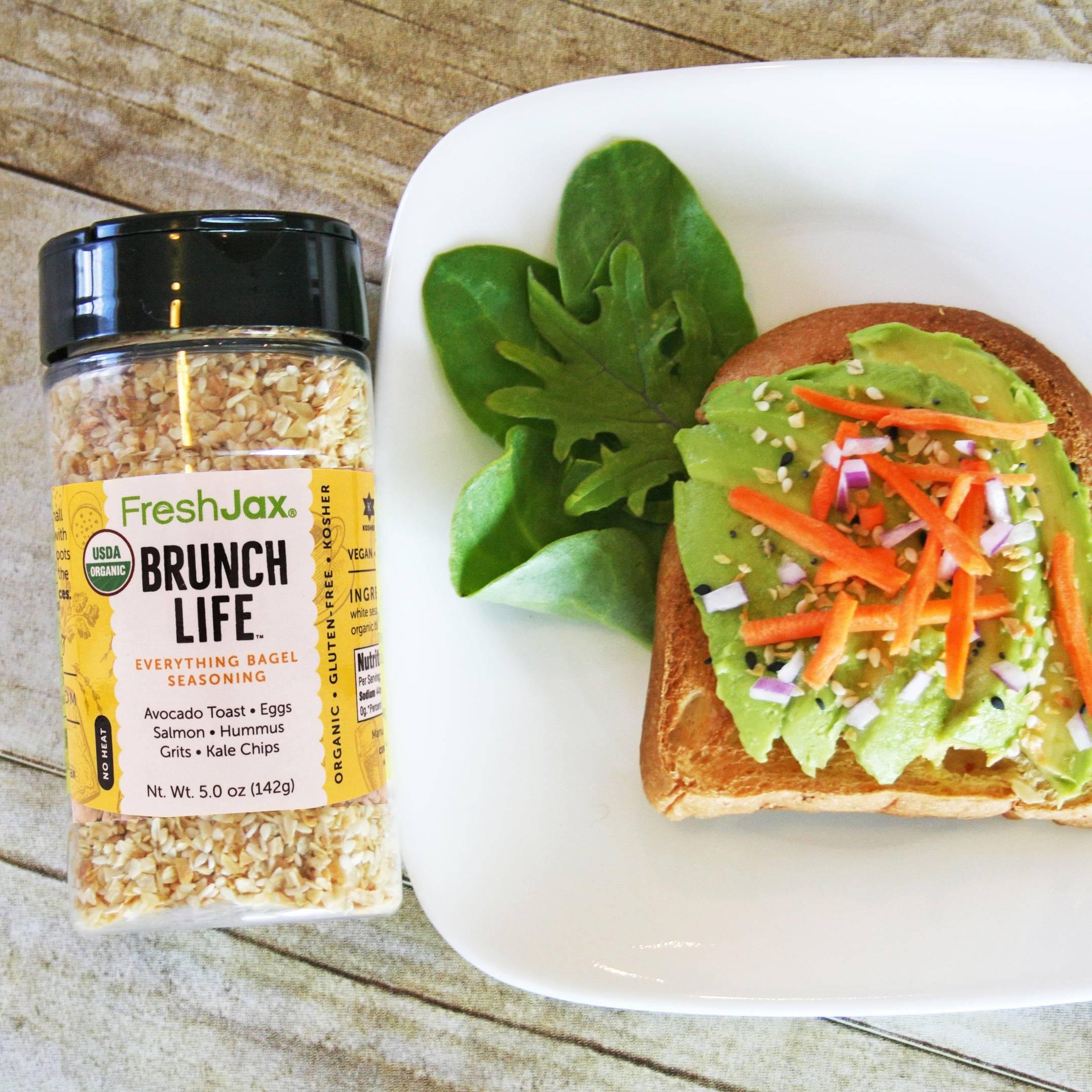 Brunch Life Organic Everything Bagel Seasoning With Avocado Toast