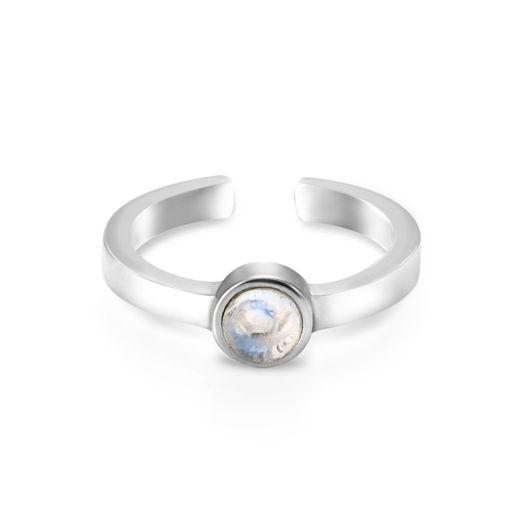 Миди-кольцо SPUTNIK - Лунный камень