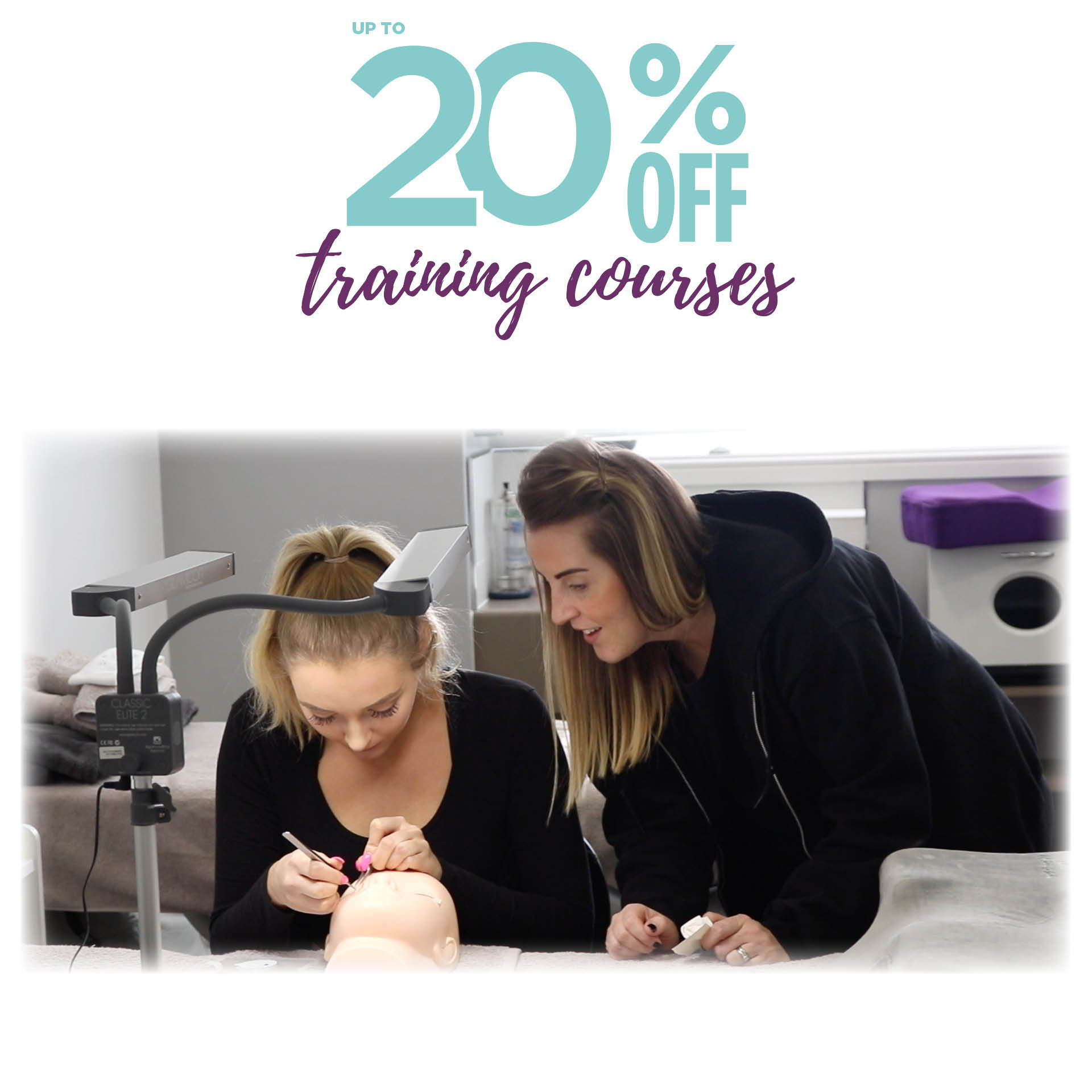 Up to 20% off training courses