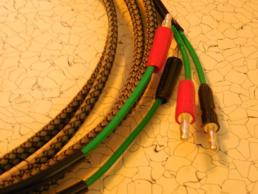 SILVER/TEFLON 10 AWG Speaker Cables 2 Meter