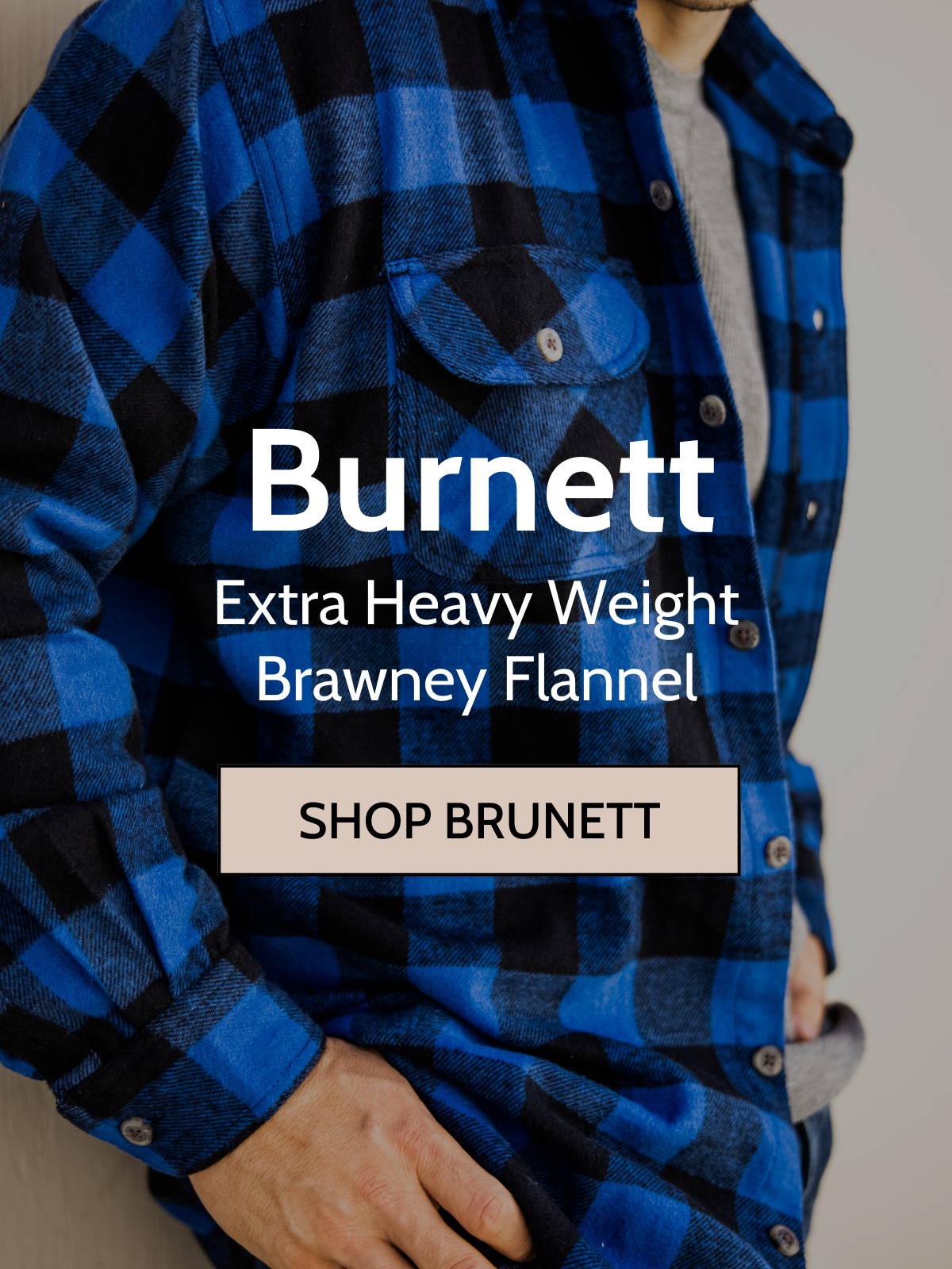 Man wearing burnett shirt jacket