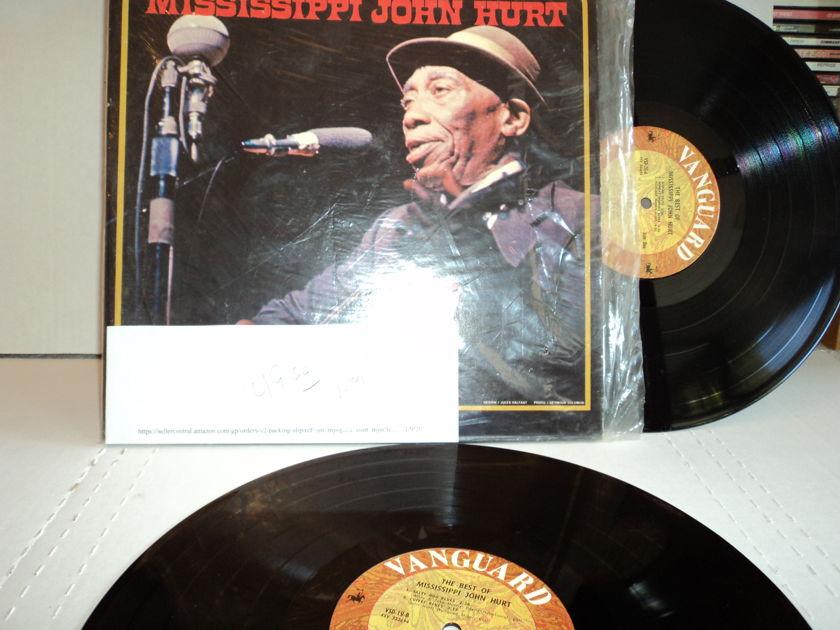 Mississippi John Hurt  - The Best of Mississippi John Hurt 2 lp set 1971 Vanguard 19/20 NM
