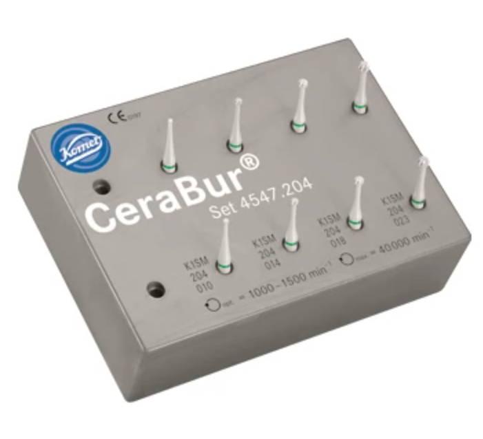 CeraBur Surgical Length Latch K1SM Starter Kit from Komet