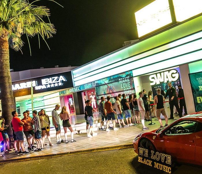 Exterior Nightclub Ibiza Swag, Ibiza clubbing guide