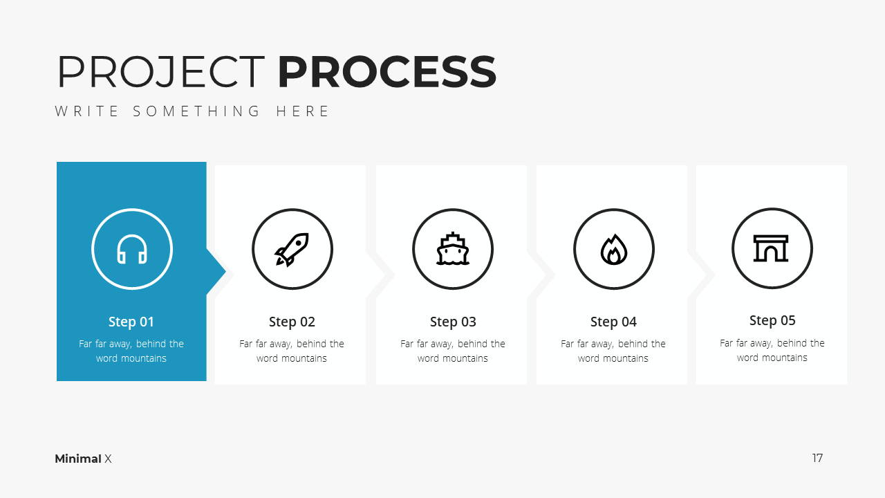 Minimal X Project Proposal Presentation Template Project Process
