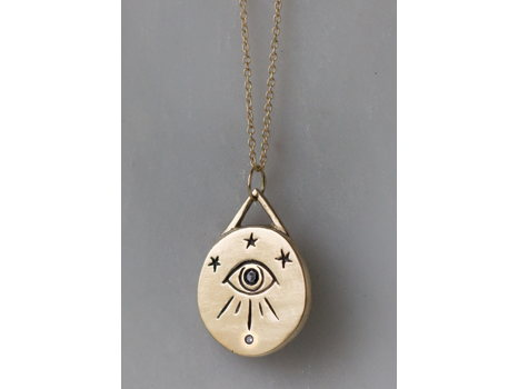 Butch + Miggs Jewelry- 14k Gold Third Eye Necklace