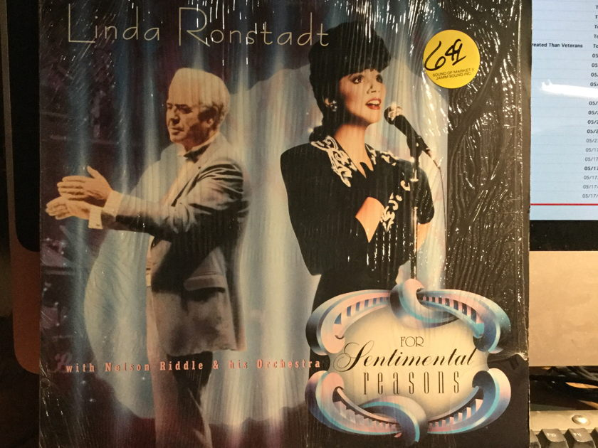 LINDA RONSTADT - FOR SENTIMENTAL REASONS w NELSON RIDDLE and his ORCHESTRA