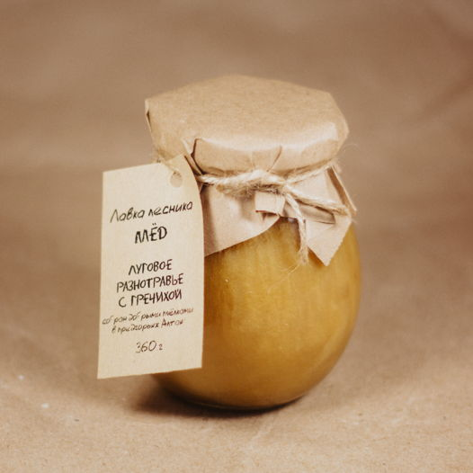 Алтайский мёд - луговое разнотравье с гречихой (360 г)
