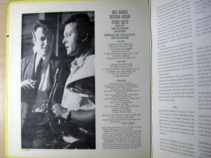 Stan Getz - Big Band Bossa Nova - 1962 Verve Records V6-8494