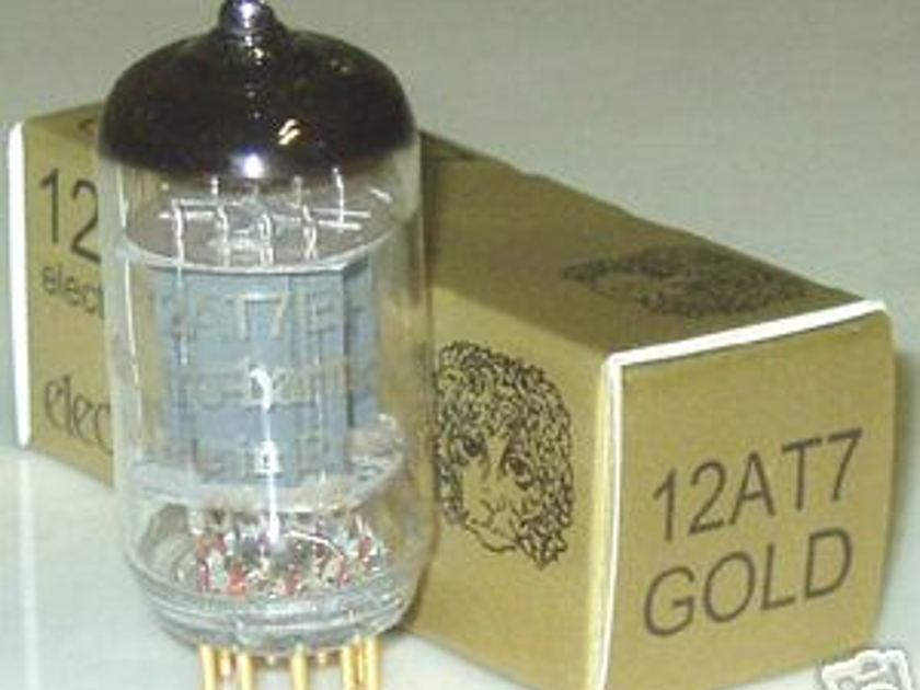 Electro Harmonix 12AX7/12AU7/12AT7 pre-amp tubes, gold pin, brand new