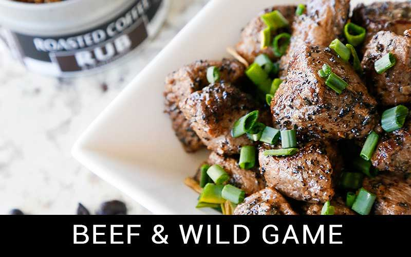 beef and wild game button