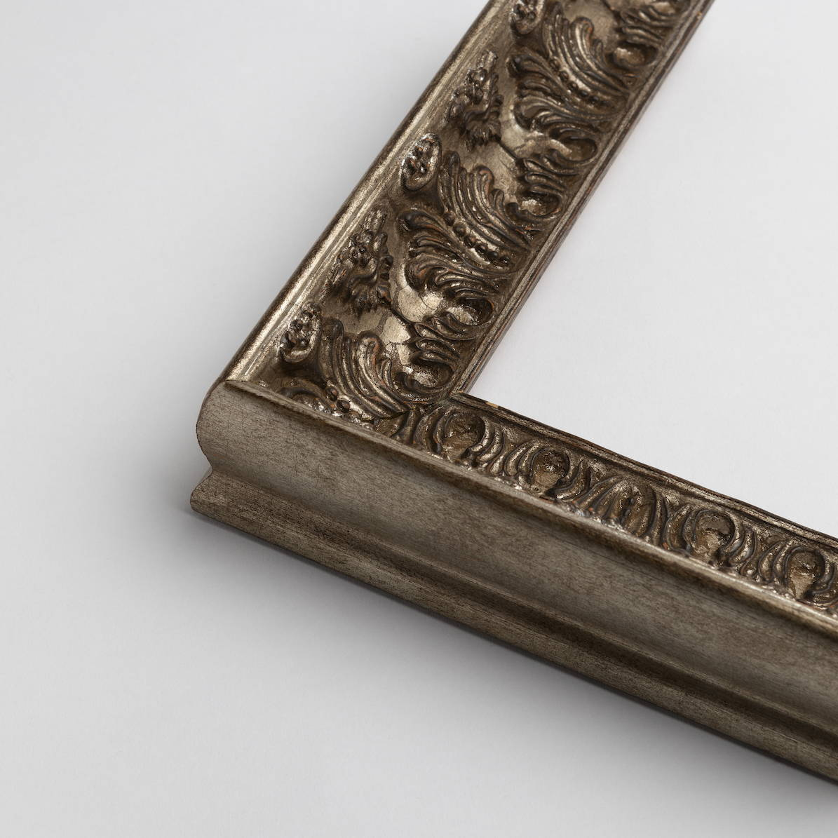 TV-Mirror Ornate Antique Pewter Frame by FRAMING TO A T