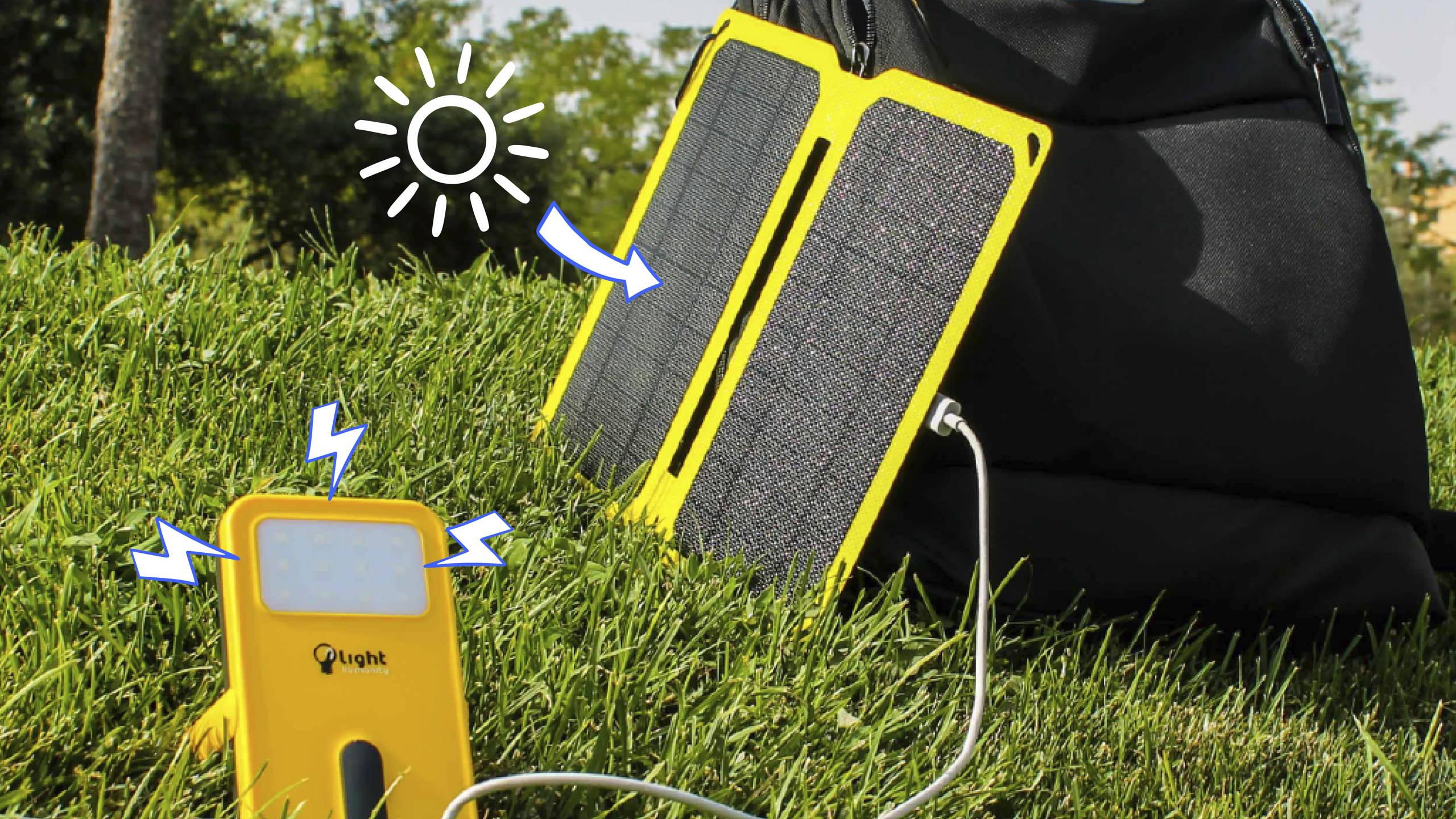 energía solar pack batería y panel solar para moviles USB