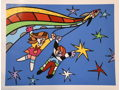 ROMERO BRITTO - SIGNED PIECE FROM 2010 BUZZ ALDRIN SPACE SERIES