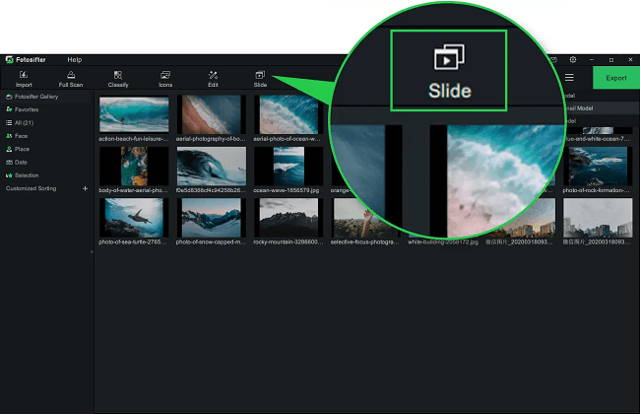 Delete the duplicate images