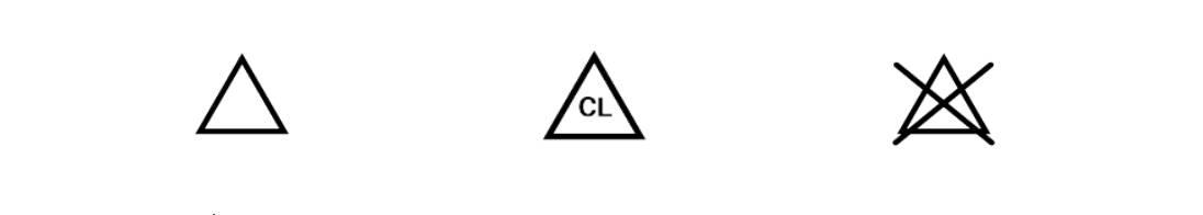 Pflegesymbol Bleichesymbole Hinweis Snocks