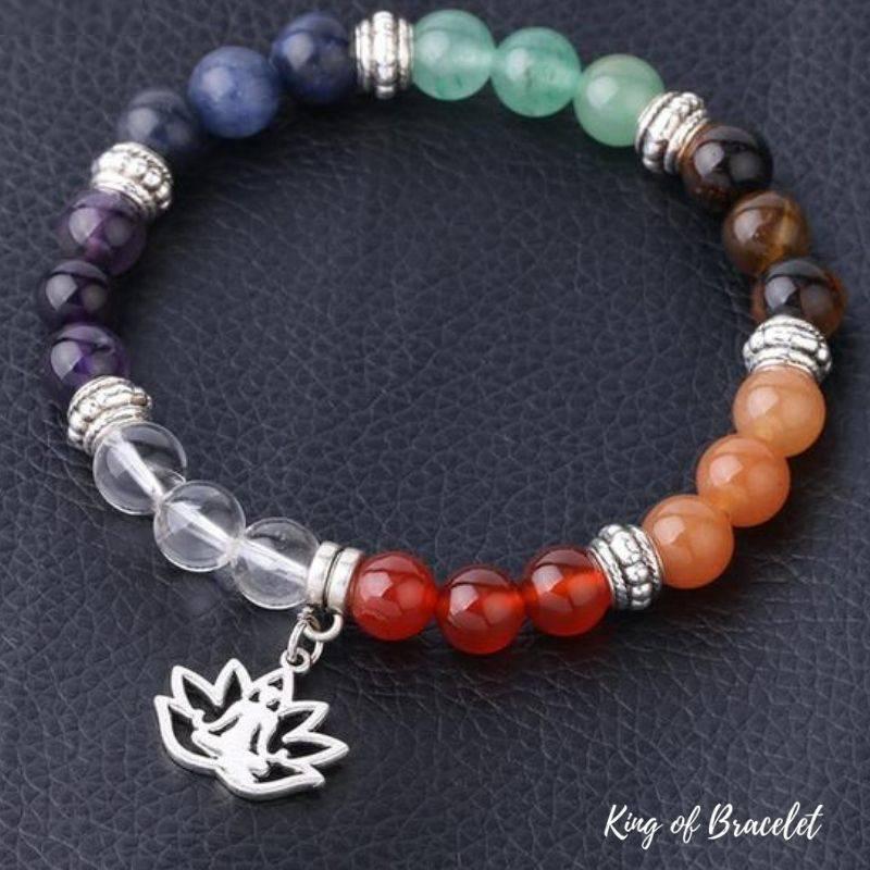 Bracelet Bouddhiste 7 Chakras en Perles Naturelles - King of Bracelet