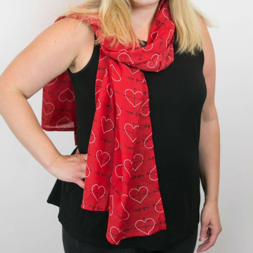 algebraic love heart scarf