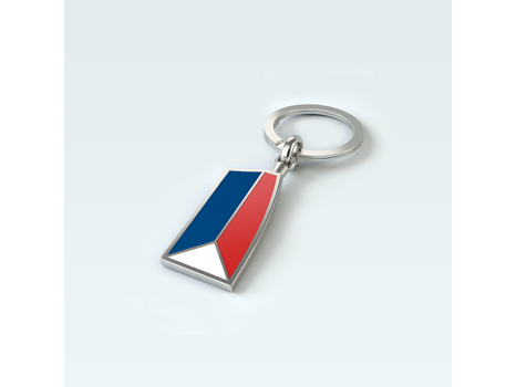 USRowing Sterling/Enamel/Stainless Keychain