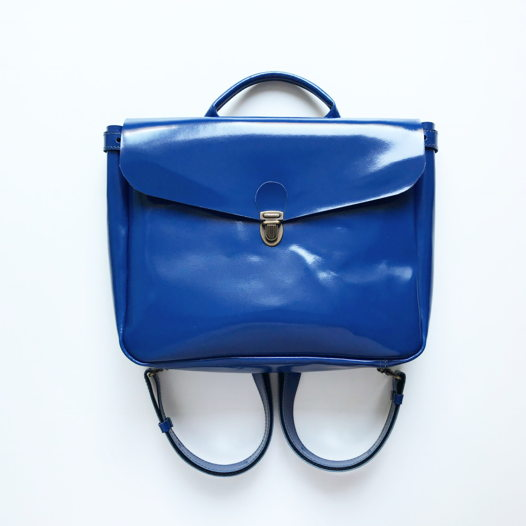 Кожаный рюкзак-портфель Gloss Cobalt