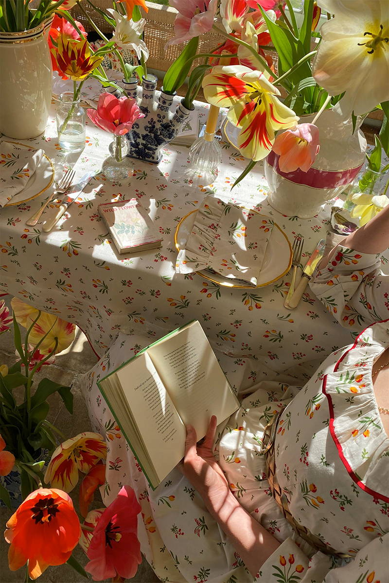 Made to match Beatrice Dress and linen homewares in the Tulip Dress