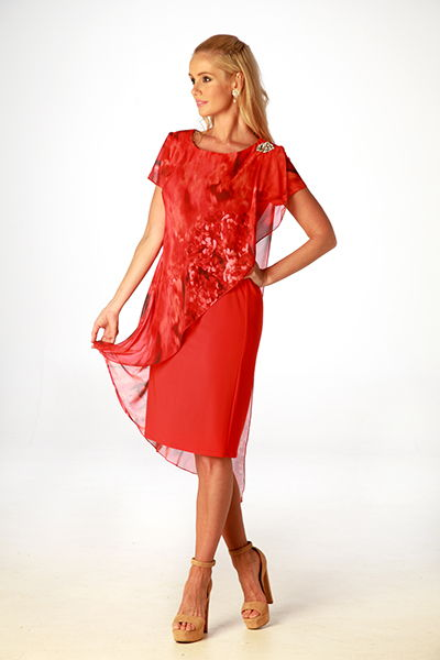 FLAME OVERLAY DRESS | LAURA K L7847