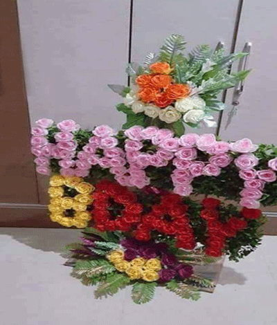 Bangalore Flowers Mix Roses Standing Arrangement