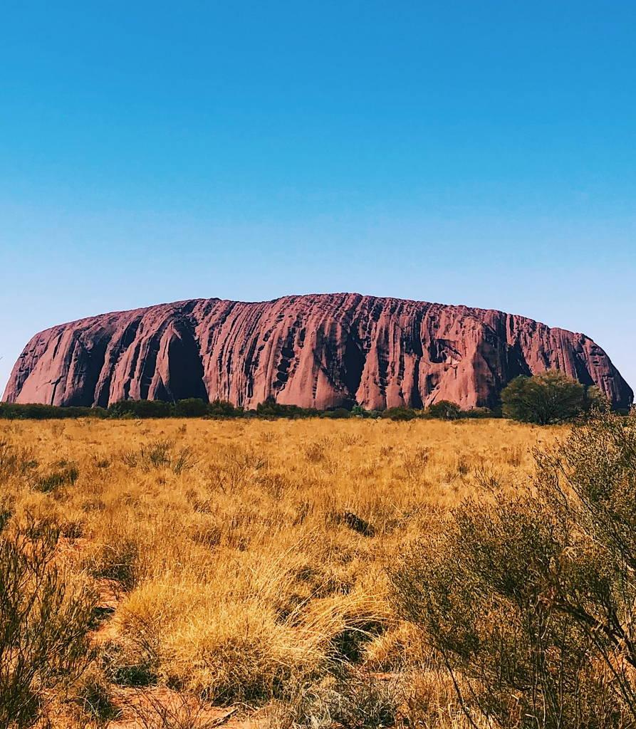 Uluru sandstone monolith view