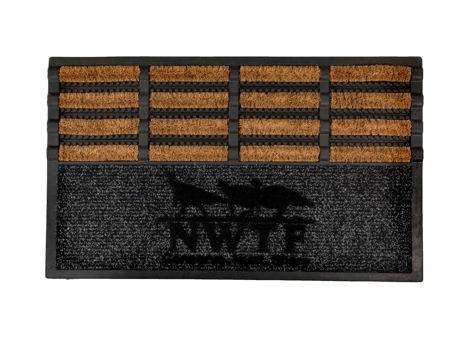Coir Brush Mat w/ NWTF logo