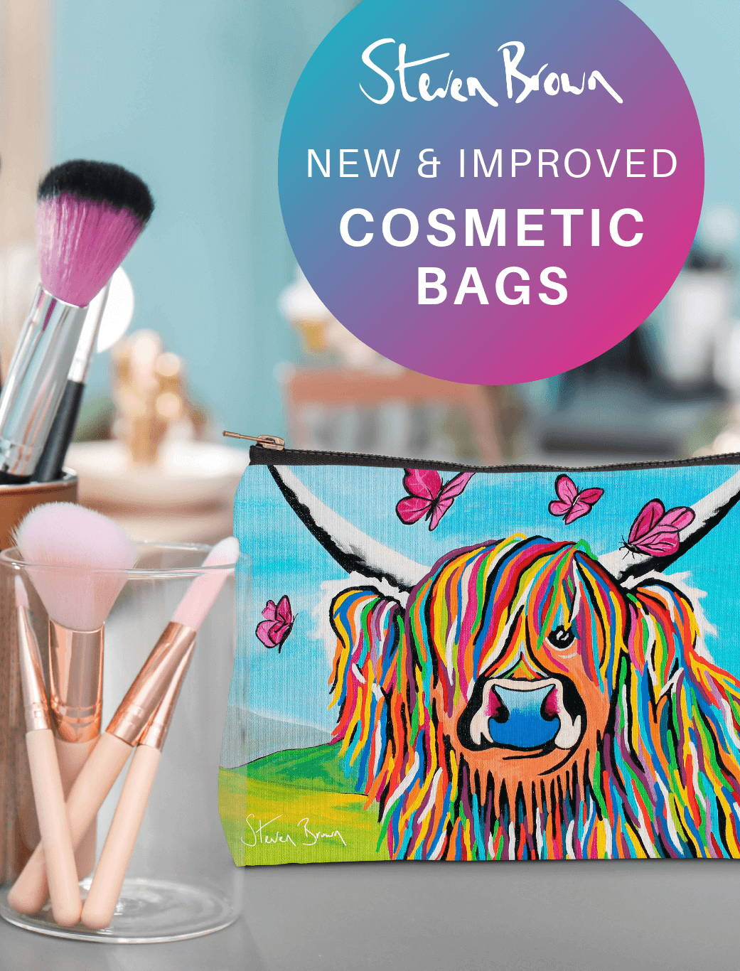 Steven Brown Cosmetic Bags