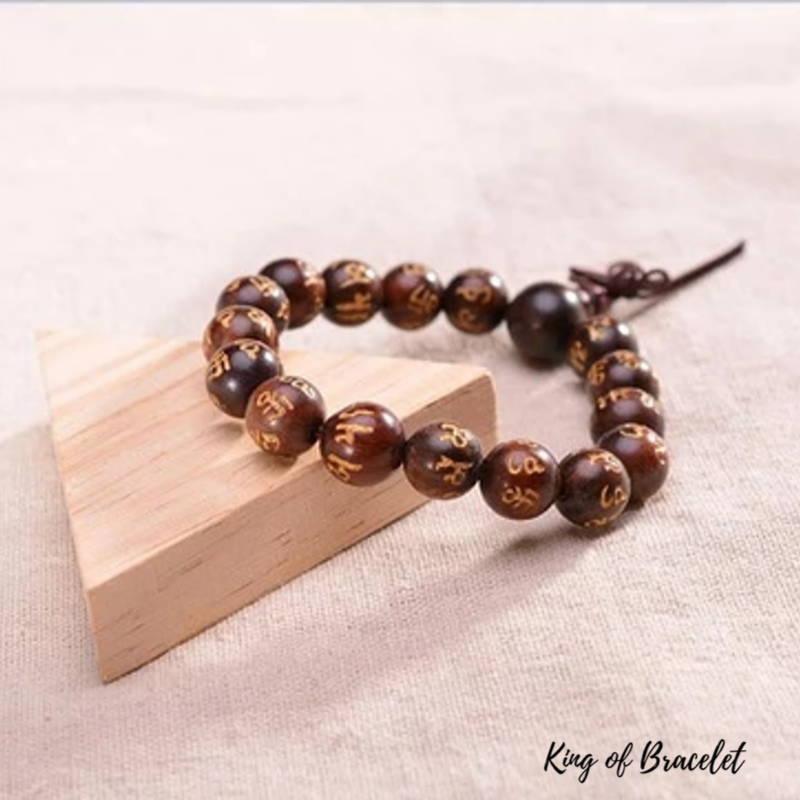 Bracelet Bouddhiste en Perles de Bois - King of BraceletBracelet en Perles de Bois de Rose - King of Bracelet