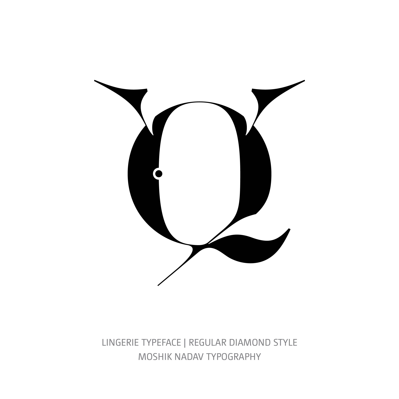 Lingerie Typeface Regular Diamond alternate c glyph
