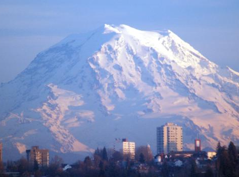 Russell Investments employees will lose mind-blowing Mt. Ranier view. Photo Credit: Larry Lane