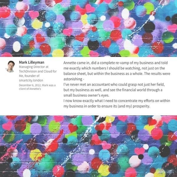 Mark Lilleyman LinkedIn Client Testimonail for Annette Ferguson
