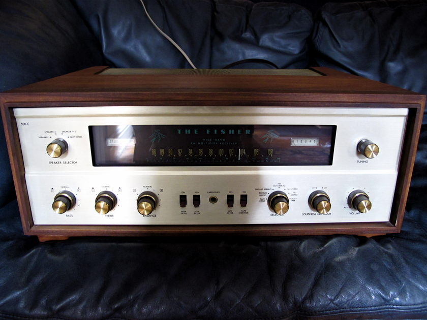 Fisher 500-C w. Wooden Case, Extra Tubes, Manuals