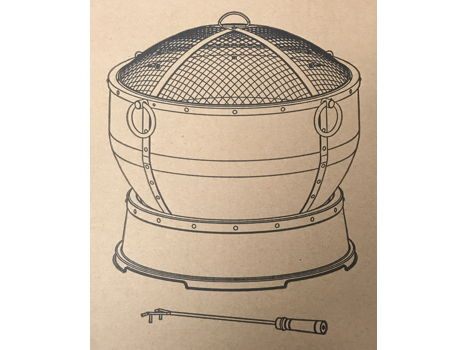 Steel Fire Pit with Cover & Grill