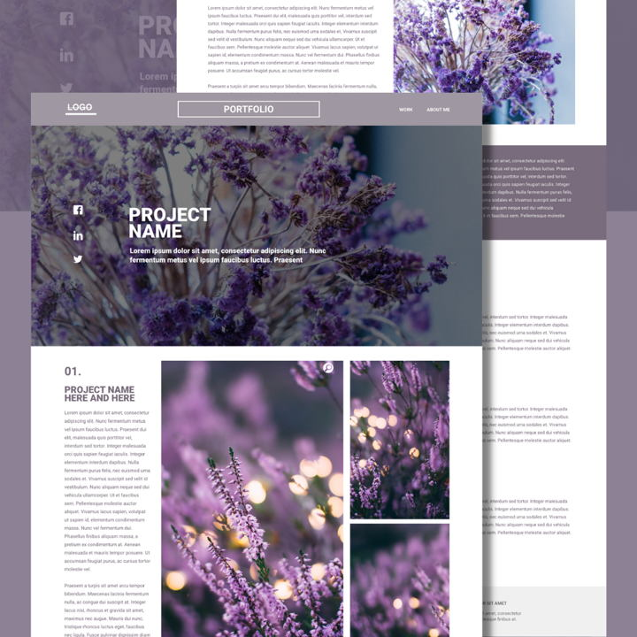 Lavender template's featured image