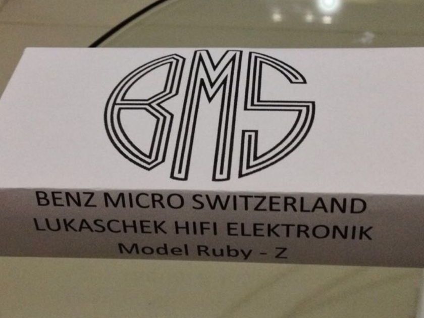 Benz Micro Ruby Z Low Output Cartridge  New and never used!