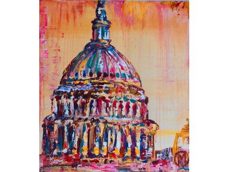 "Original 20x24 Maggie O'Neill Painting ""DC Tequila Sunrise"""
