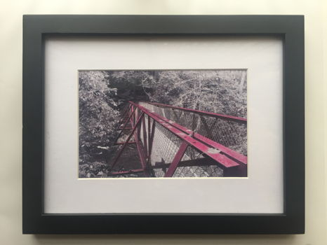 Original Framed Hand-Tinted Photograph by LWS Student